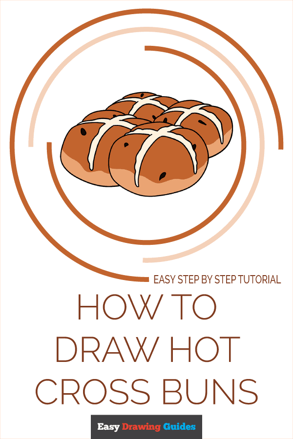 How to Draw Hot Cross Buns Pinterest Image