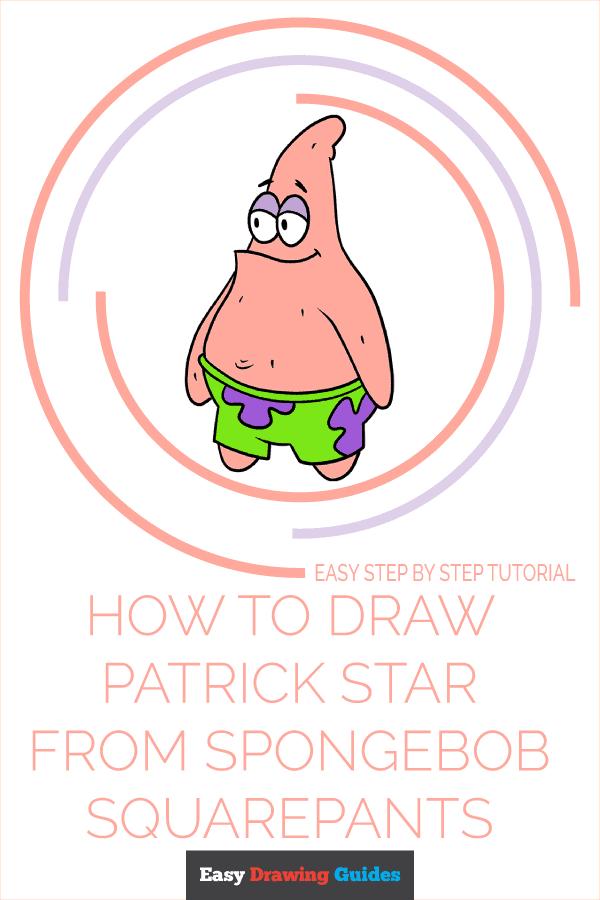 How to Draw Patrick Star from Spongebob Squarepants Pinterest Image