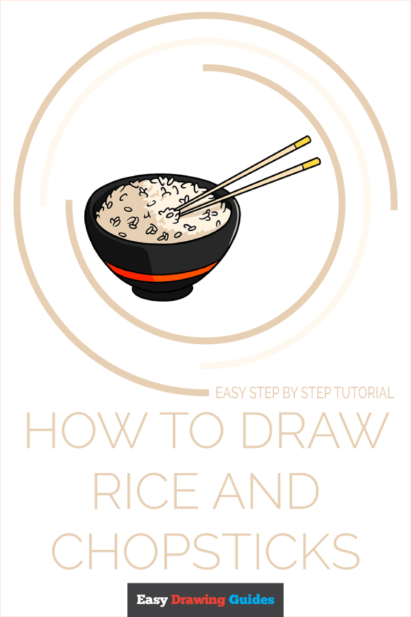 How to Draw Rice and Chopsticks Featured Image