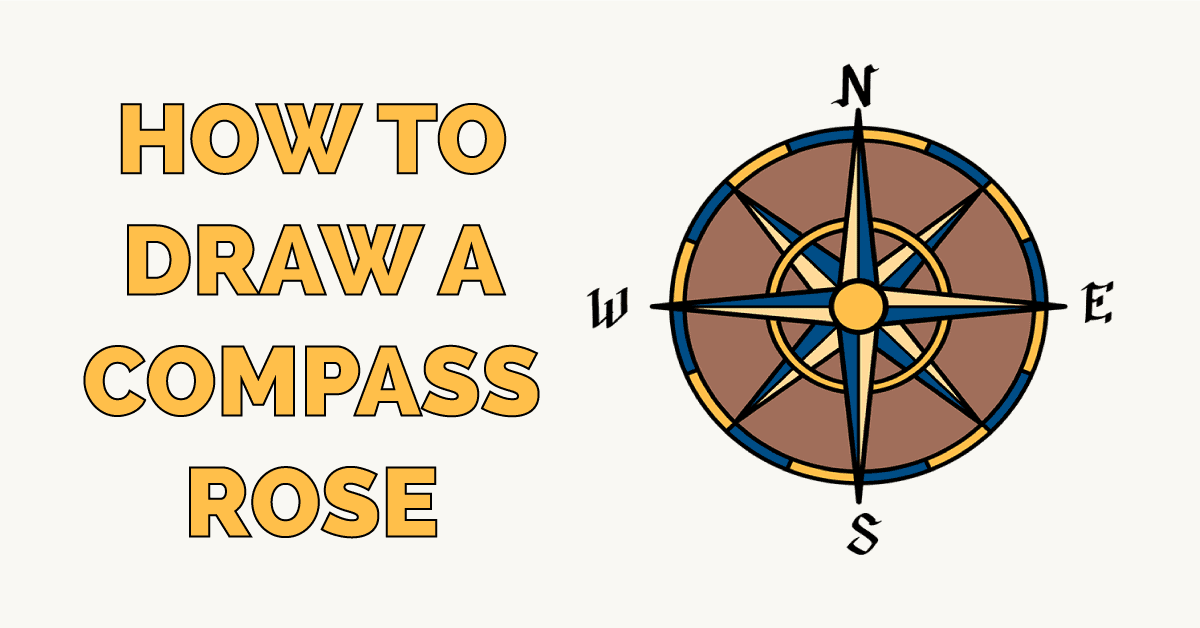 How to Draw a Compass Rose Featured Image