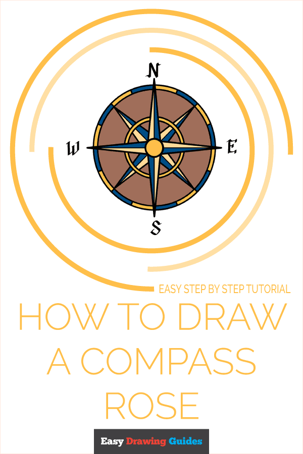 How to Draw a Compass Rose Pinterest Image