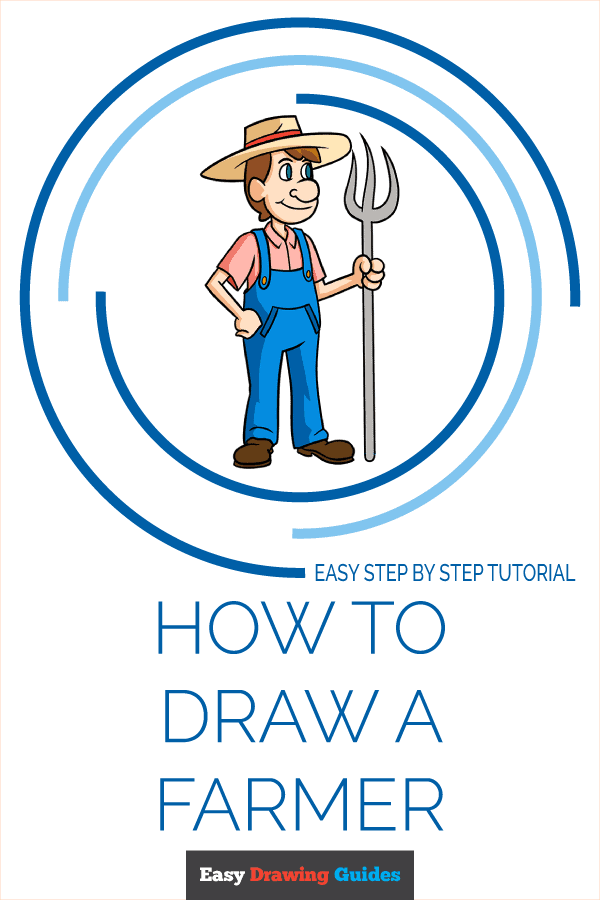 How to Draw a Farmer Pinterest Image