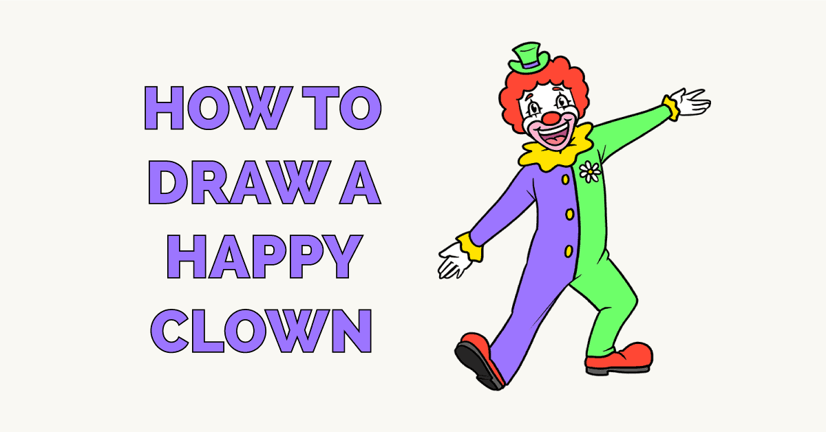 How to Draw a Happy Clown Featured Image