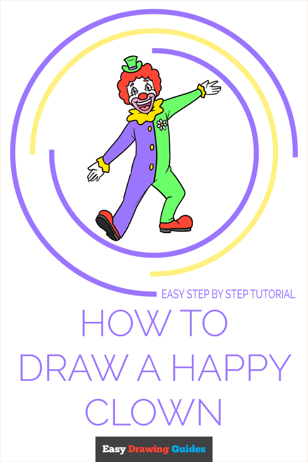 How to Draw a Happy Clown Pinterest Image