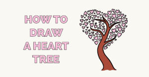How to Draw a Heart Tree Featured Image