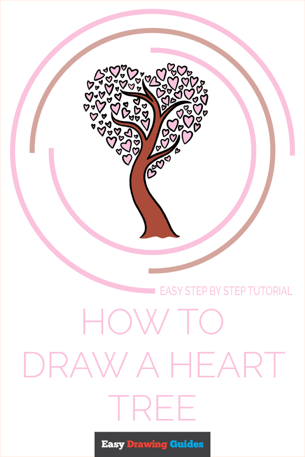 How to Draw a Heart Tree Pinterest Image