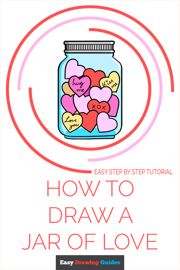 How to Draw a Jar of Love Pinterest