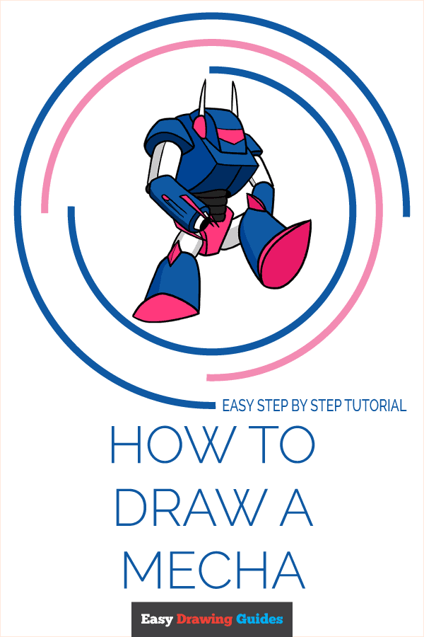 How to Draw a Mecha Pinterest Image