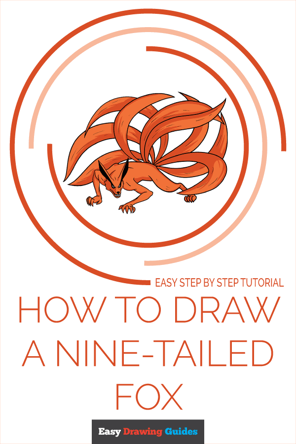 How to Draw a Nine-Tailed Fox Pinterest Image
