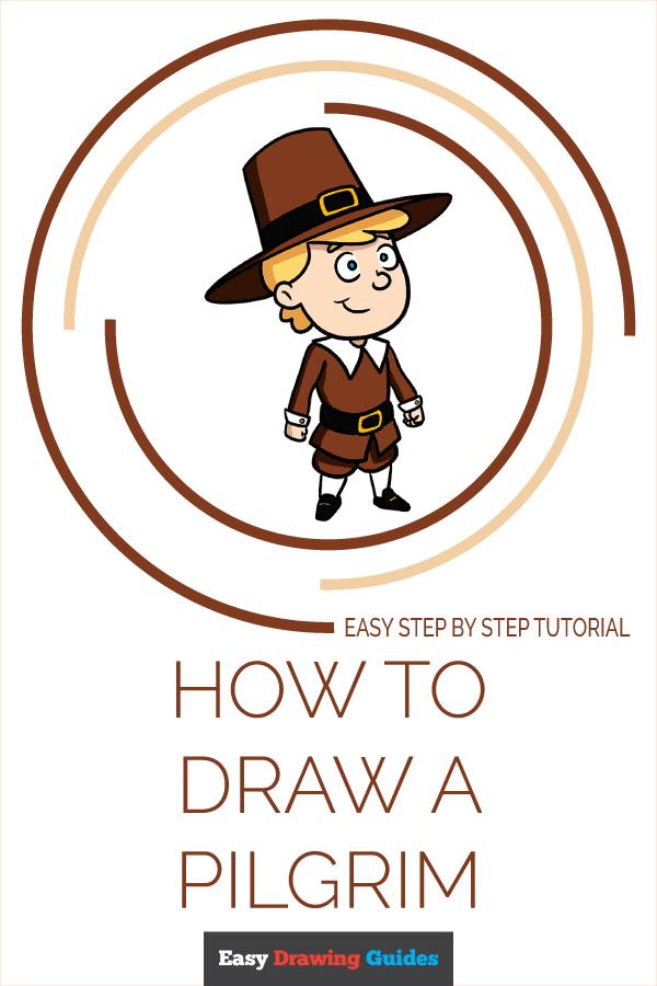 How to Draw a Pilgrim Pinterest Image
