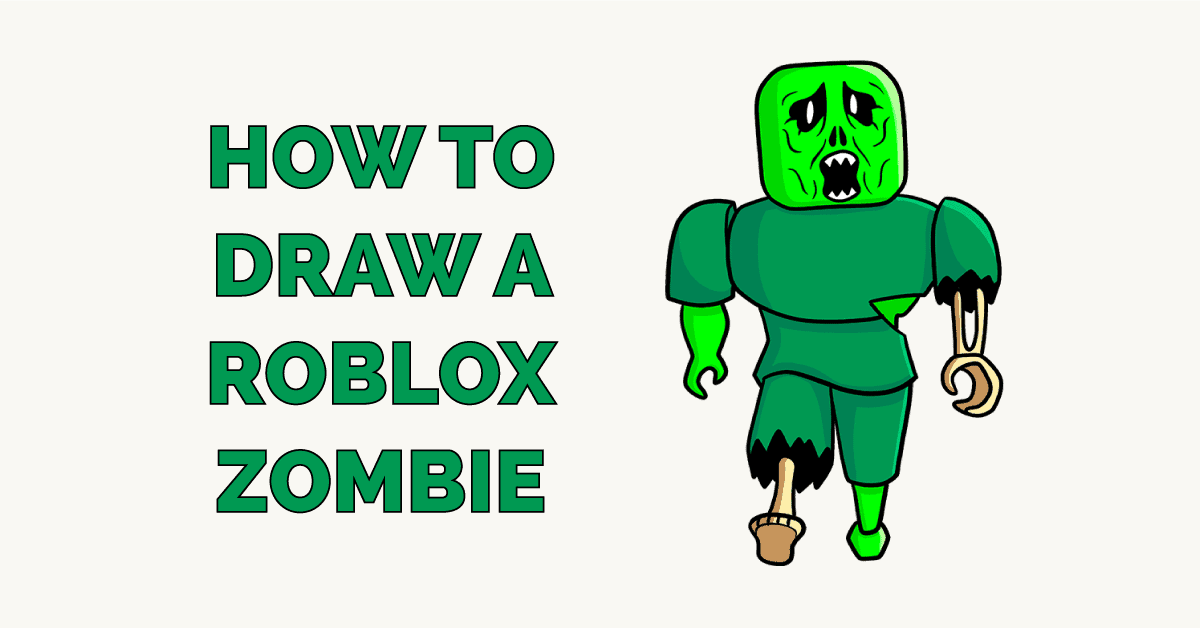 How to Draw a Roblox Zombie Featured Image