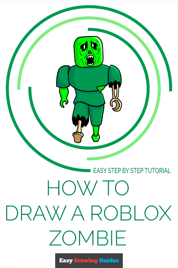 How to Draw a Roblox Zombie Pinterest Image
