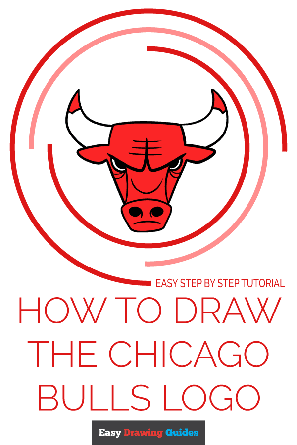 How to Draw the Chicago Bulls Logo Pinterest Image