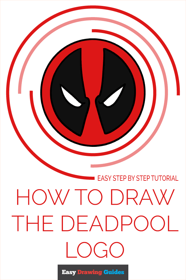 How to Draw the Deadpool Logo Pinterest Image