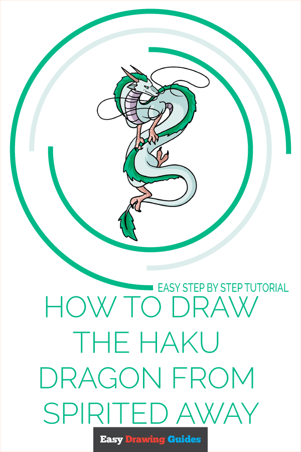 How to Draw the Haku Dragon from Spirited Away Pinterest Image