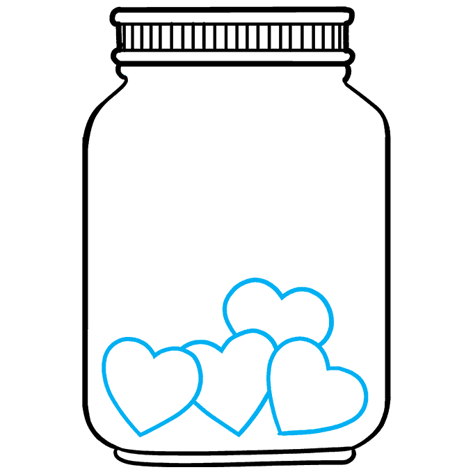 How to Draw a Jar of Love Step 06