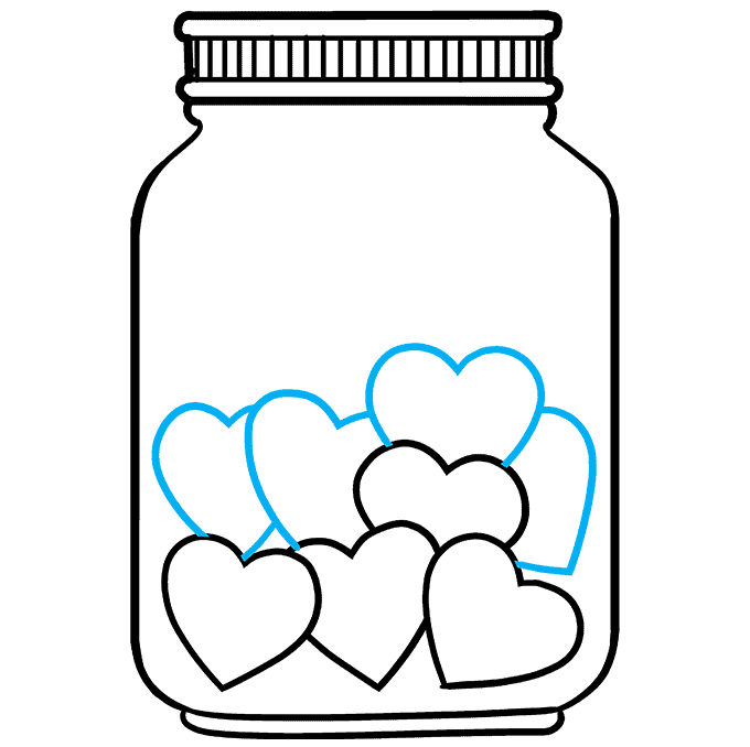 How to Draw a Jar of Love Step 07