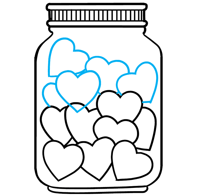 How to Draw a Jar of Love Step 08