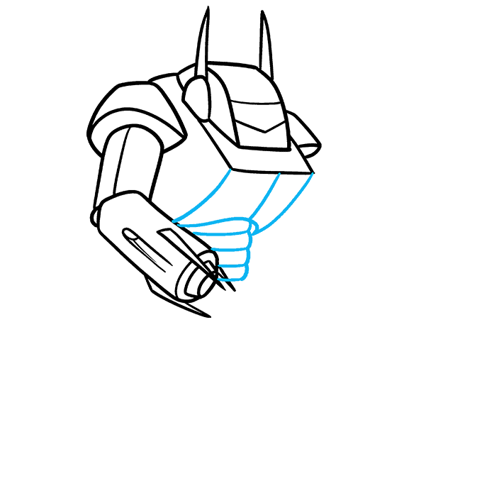 How to Draw a Mecha Step 05