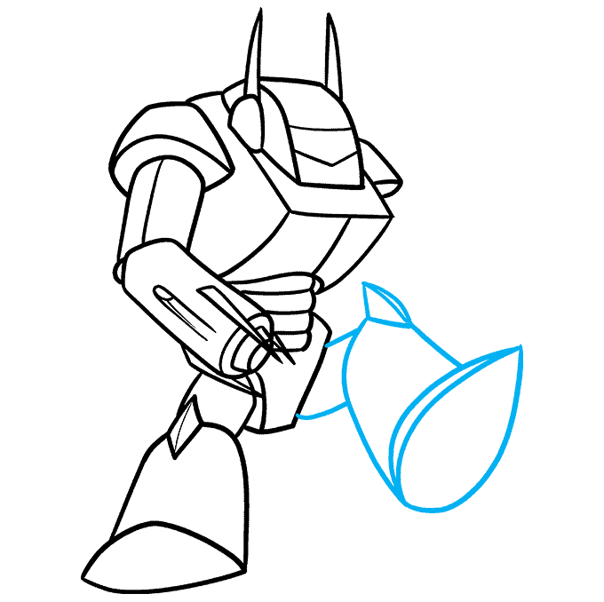 How to Draw a Mecha Step 08
