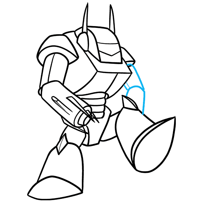 How to Draw a Mecha Step 09