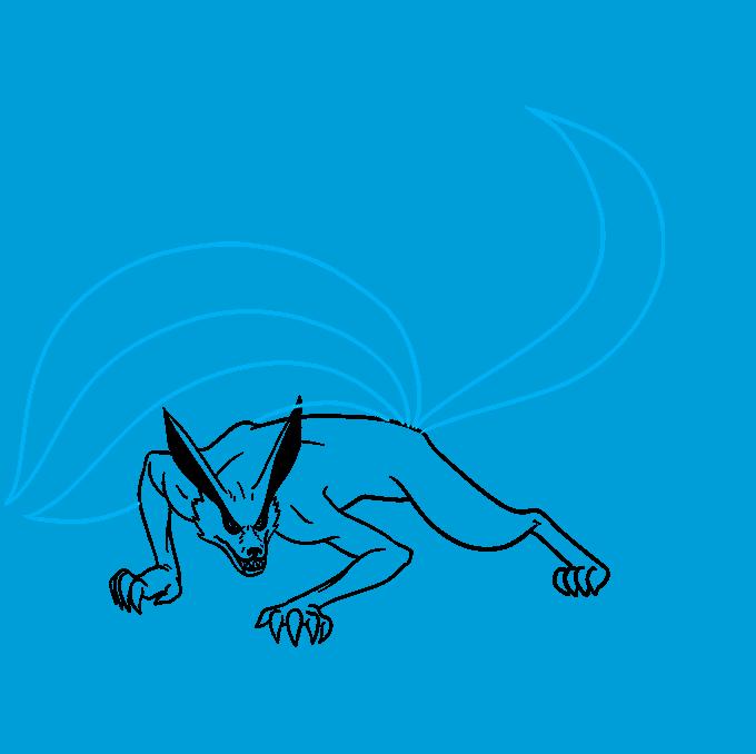 How to Draw a Nine-Tailed Fox Step 06