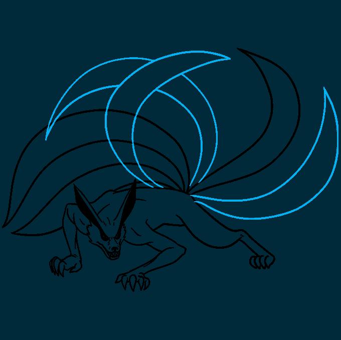 How to Draw a Nine-Tailed Fox Step 07