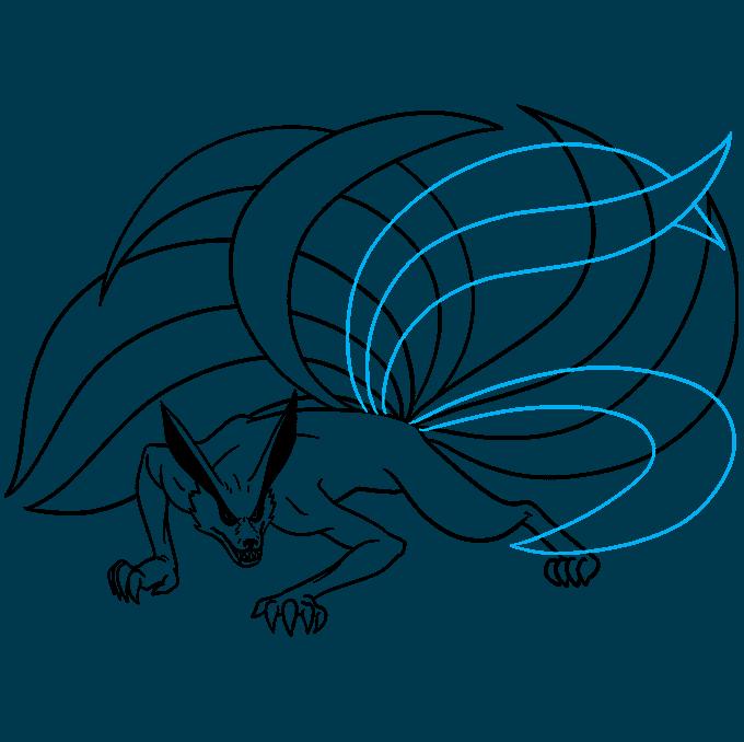How to Draw a Nine-Tailed Fox Step 08