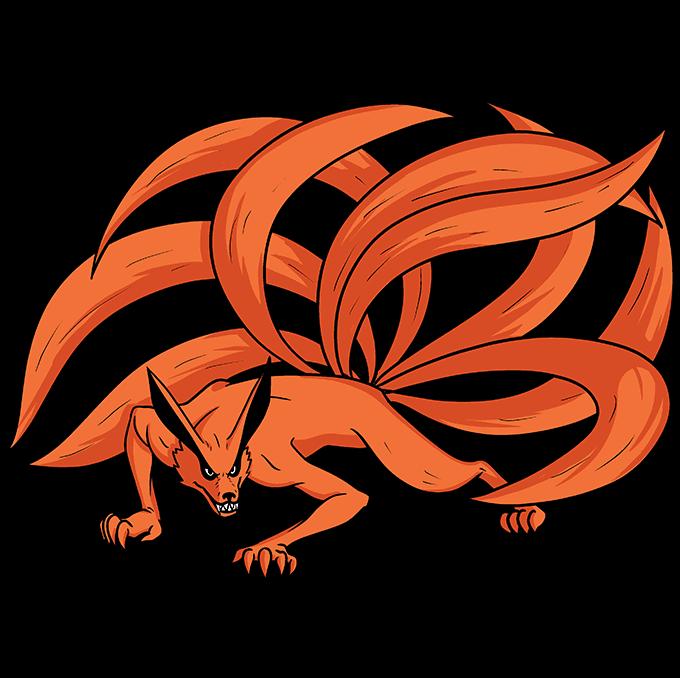 How to Draw a Nine-Tailed Fox Step 10
