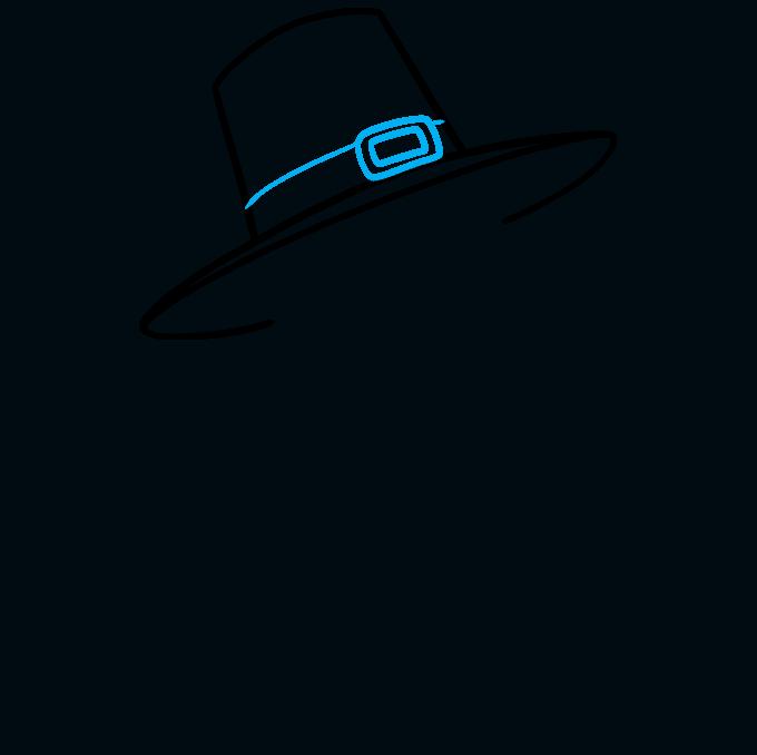 How to Draw a Pilgrim Step 04