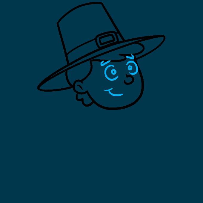 How to Draw a Pilgrim Step 05