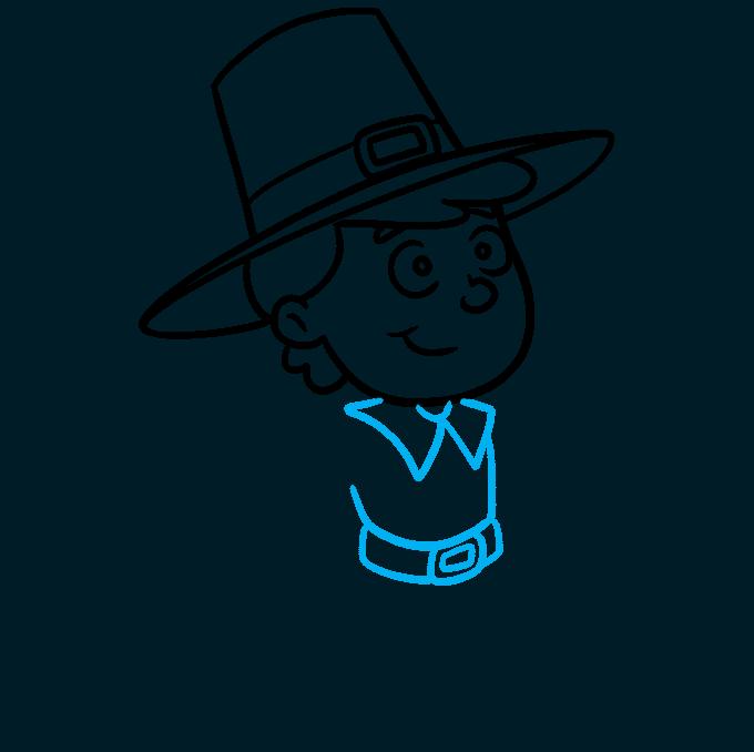 How to Draw a Pilgrim Step 06