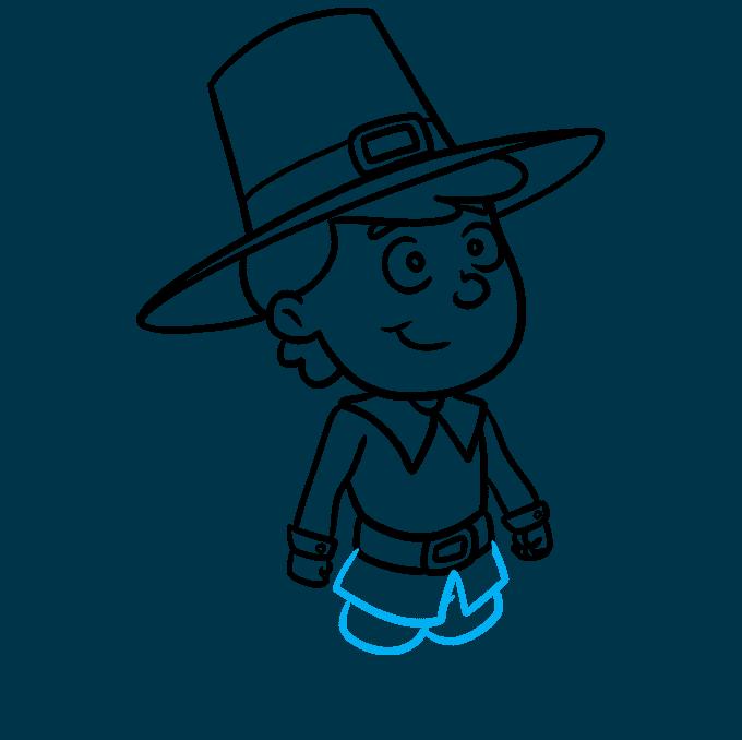 How to Draw a Pilgrim Step 08