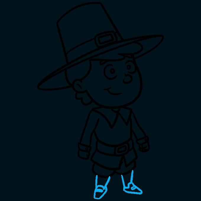 How to Draw a Pilgrim Step 09