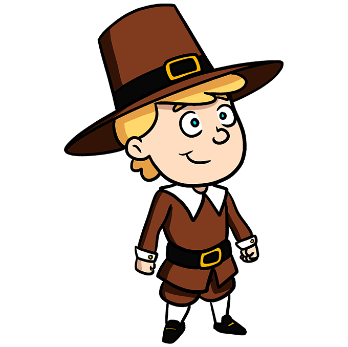 How to Draw a Pilgrim Step 10