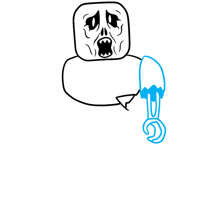 How to Draw a Roblox Zombie Step 05
