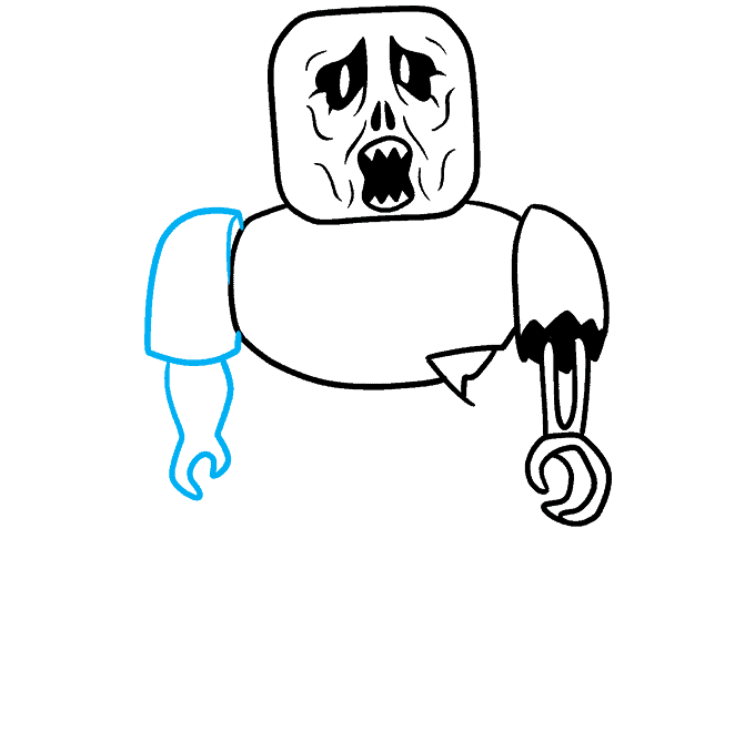How to Draw a Roblox Zombie Step 06