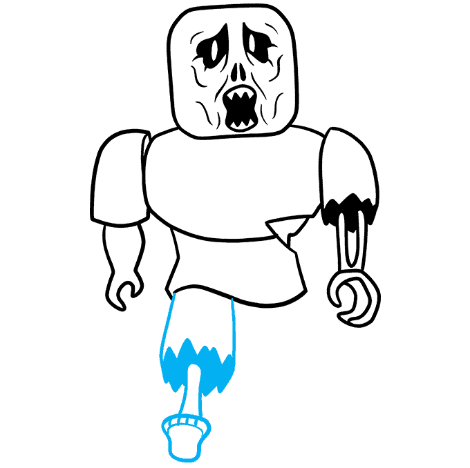 How to Draw a Roblox Zombie Step 08