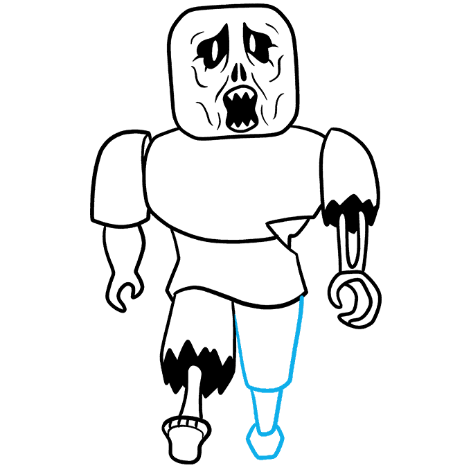 How to Draw a Roblox Zombie Step 09