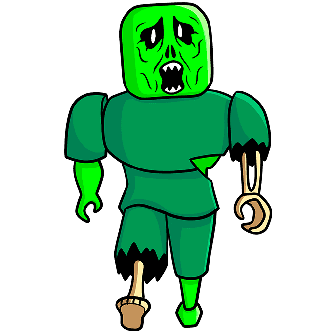 How to Draw a Roblox Zombie Step 10