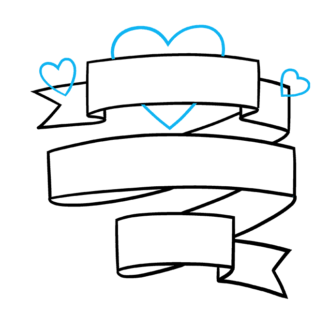 How to Draw a Valentine's Day Card Step 05