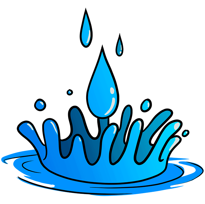 How to Draw Water Drops Step 10