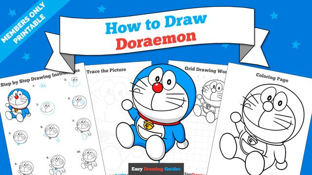 Printables thumbnail: How to Draw Doraemon