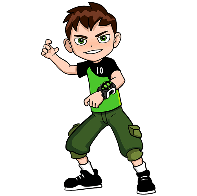 How to Draw Ben 10 Step 10