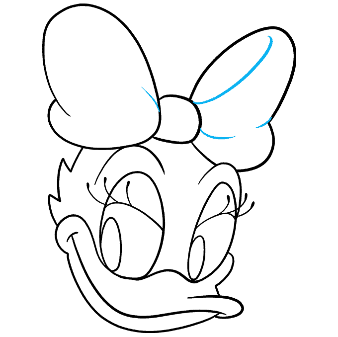 How to Draw Daisy Duck Step 09