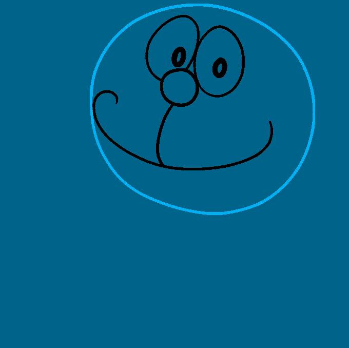 How to Draw Doraemon Step 03