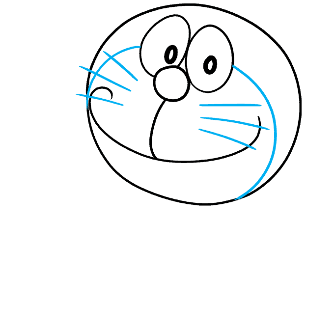 How to Draw Doraemon Step 04