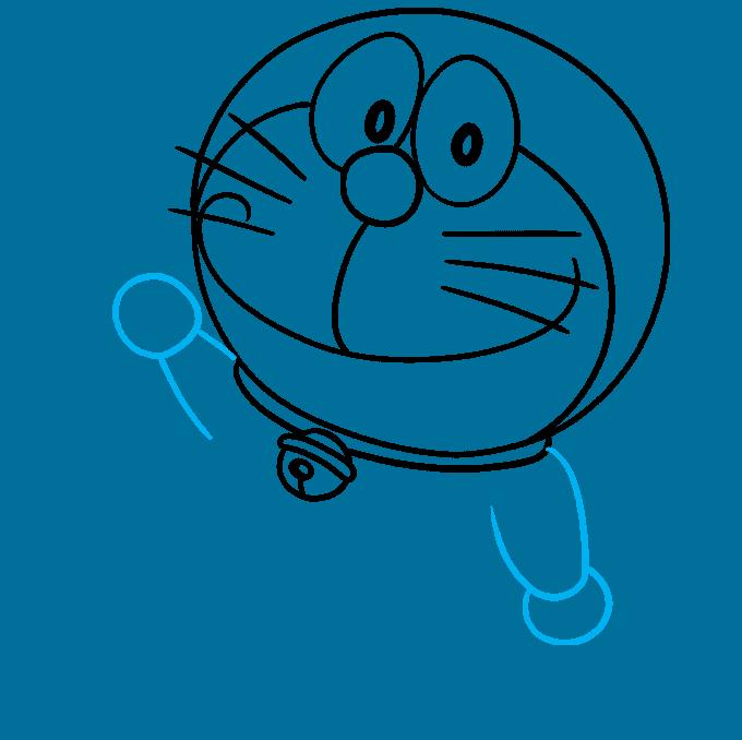 How to Draw Doraemon Step 06