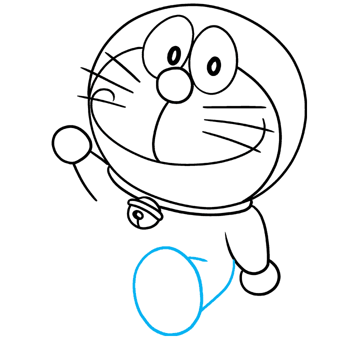 How to Draw Doraemon Step 07