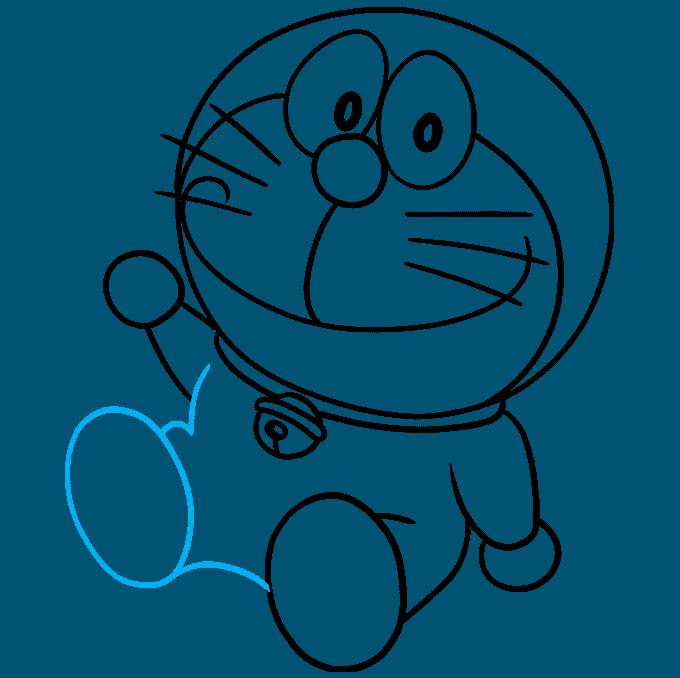 How to Draw Doraemon Step 08